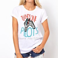 Wholesale New Pilots Twenty One Pilots print t shirt women summer crewneck streetwear tshirt fashion lady tee shirts tops clothes