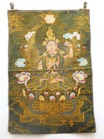 Wholesale china Tibet Collectable religion Silk Hand Painted Immortal auspicious fengshui Thangka living room