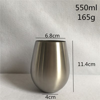 Wholesale Thicken Stainless steel Oval Vase ml