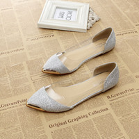 Wholesale DHL metal pointed new fashion women sandals female flat heel shoes female shoes women shoes Silver gold black