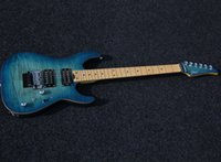 Wholesale SHIJIE electric guitar ToneMaster FR series from inner to side gradient blue color electric guitar