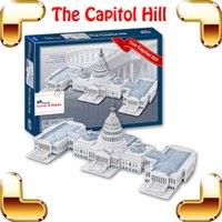 Wholesale New DIY Gift Capitol Hill D Puzzle Building Model Structure American Famous Place Puzzle Game Learning Toys For Adult