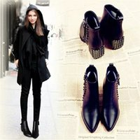 advance leather boots - boots shoes rivets literature and art delicacy fashion style grace comfort high end advance england style