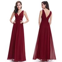 Wholesale Evening Dresses New Arrival Empire EP09016 Ever Pretty Special Occasion Dresses V Neck Elegant Long Prom Dresses