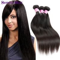 best virgin indian hair - Dyeable Best Quality Hair Weave Malaysian Peruvian Mongolian Cambodian Unprocessed Straight Hair Bundles Machine Double Weft Brazilian Hair