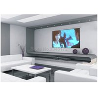 Wholesale Inches Wall Mounted Matt White Portable Projection Screen For MINI LCD LED DLP Projector Folding Traces As Picture