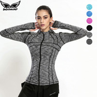 Wholesale High Quality Elastic Sport Jacket For Women Brand Zipper Fitness Yoga Gym Clothing Quick Dry Ladies Workout Female Running Coat