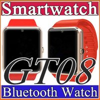 Wholesale 50X GT08 DZ09 Bluetooth Smart Watch with SIM Card Slot and NFC Health Watchs for Android Samsung and IOS iphone Smartphone Smartwatch C BS