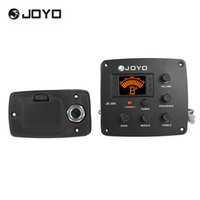 Wholesale JOYO JE Acoustic Guitar Piezo Pickup Preamp Band EQ Equalizer Tuner System with LCD Display High Quality Guitar Parts