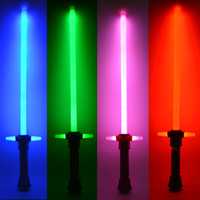 Wholesale Hot Sale Star Wars Lightsaber LED And Action Figure Flashing Light Sword Toy Mutual Percussion Sabers For Boy Free Shippin