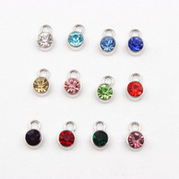 Wholesale Mix Crystal Birthstone Floating Locket Charms Fit For Floating Glass Lockets