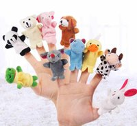 Wholesale Finger Puppets Plush Toy Talking Props Different Animals Set finger plush toys For Baby Children