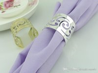 Wholesale napkin rings Cutout Metal Napkin Rings for Hotel Wedding Party meeting Table Decoration Accessories Napkin Cloth ring Y253