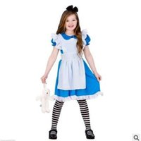 alice style dress - Alice In Wonderland Cosplay Dress Ruffle Baby Girls Lace Party Dress Lolita Dress Maid Cosplay Fantasia Carnival Halloween Costumes