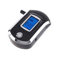 Wholesale Personal Smart MCU Control Breath Analyzer Breathalyzer Police LCD Display Digital Alcohol Tester