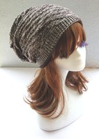 Wholesale Autumn And Winter Women s New Color Fold Hat Pile Heap Hip Hop Street Dome Knit Hat