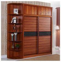 Wholesale The wardrobe sliding door plate mobile modern minimalist wardrobe whole bedroom solid wood furniture