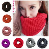 autumn knit wrap - New Fashion Women s Girl s Ring Scarf Scarves Wrap Shawls Warm Knitted Neck Circle Cowl Snood For Autumn Winter colors