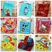 baby bedding pooh - Baby Frozen Spiderman Blankets Mickey Minnie Mouse Swadling Pooh Doraemon Bedding Mcqueen Car Elsa Princess Cartoon Flannel Blankets B1690
