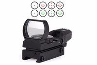 Wholesale Hunting Tactical mm Holographic x22x33 Reflex Red Green Dot Sight Scope Rail Mount Riflescopes Hunting Optics