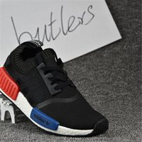 art knits - 2017 Adidas NMD Runner R1 Primeknit Black Triple White Nice Kicks Circa Knit Men Women Running Shoes Sneakers Originals Classic Casual Shoes