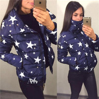 Real Photos basic coat pattern - 2016 Popular New Fashion Women s Winter Jacket Down Coat With Stars Glasses Pattern Short Women Basic Coats Winter Snowimage FS0769