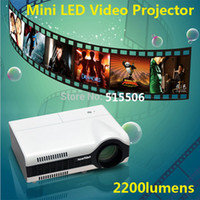 DLP Business & Education Yes Wholesale- Cheapest!! 2200lumens Portable LED 3D home theater projector LCD video digital proyector with VGA HDMI USB AV TV,Free shipping