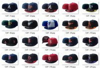 Snapbacks Unisex Embroidered Hot Sale All Teams Sports Fitted Caps Mariner Baseball Fashion Cleveland Caps Texas States Flat Caps Dodger Yankee Sox Brave Giant Mix Order