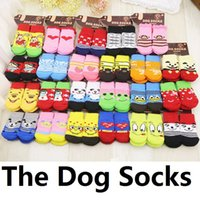 Wholesale Professional pet products dog socks style optional colors bright material comfortable pet socks anti skid teddy dog socks cat than the bear