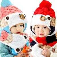 beautiful baby wool hat - Beautiful Cheap Stock Boys Girls Wool Winter Warm Baby Kids Cloak Coif Hood Scarf Caps Chinldren Hats