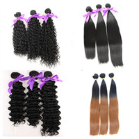 Wholesale high quality hair weave silky straight deep wave curly Fiber natural color B High Temperature Hair weft Hair Extension