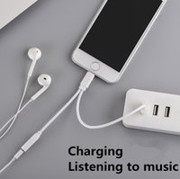 Wholesale Lamchin Loly in Earphone mm Audio AUX Jack USB Charge Adapter Cable to Lighting Connector for iphone with Packing