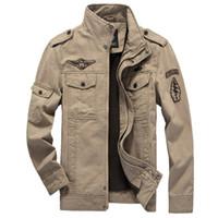 Wholesale High quality men jacket spring autumn cotton bomber jacket casual brand men s jacket coat veste homme man coat brand clothing
