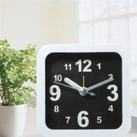 alarm clock beep - White Mini Travel Quartz Alarm Beep Bedside Clock For Home Bedroom Office Desk Movement Sweep