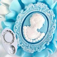Donna silicone Cameo fondente di Sugarcraft della muffa Fancy figura Cake Stampi per DIY Cake Decorating colore casuale