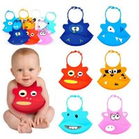 Wholesale Baby Bibs Infant Easy Washable Crumb Food Catcher Roll Silicone Baby Bibs Infant Feeding Kid Bibs Funny Waterproof Design DHL Free