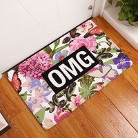 beach house decorating - vibrant flower door mats for indoor bar beach house cafe shop office english letters decorated rug velvet carpet