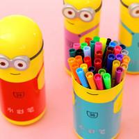 Wholesale Small yellow people watercolor pen set color children s non toxic color painting graffiti Strokes