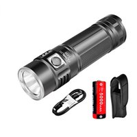 Wholesale KLARUS G20 USB Rechargeable LED Flashlight Torch With Battery Lumens CREE XHP70 N4 LED Light Dual Switch Lantern