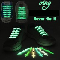 Wholesale Stretchable cm VING Flash shoelace Light Up Casual Sneaker Shoe Disco Party Night Glowing Shoe Strings Lazy Silicone shoelace