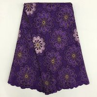 Wholesale 2016 New fashion CONTTON LACE FBRIC has colors yards with high quality and good price for the woman dress A16F1645 purple