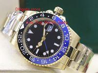 2017 Reloj de alta calidad de lujo Asia 2813 Movimiento mecánico 40MM frontera de cerámica azul negro GMT 116718 16718 Relojes Automáticos