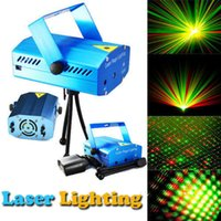 Wholesale Blue led stage lighting Red and Green led projector lighting For Disco Party DJ Bar Club With EU OR Plug laser light projector for christmas