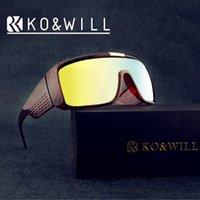 Precio de Marcos de carreras-Diseñador de marca al por mayor Big Frame cuadrados gafas de sol hombres Sport Sun Glasse en estilo clásico Oculos De Sol Racing