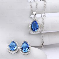 american brass lighting - The European and American Fashion Jewelry Best selling Style Earrings Necklace Set Crystal Diamond Jewelry