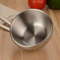 Wholesale 304 Stainless Steel Double Insulated Home Rice Soup Bowl Anti hot Bowl Food Container for Kids Children Size