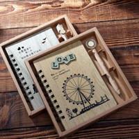 Precio de Cuadernos forrados diarios-Diario de parejas restaurando maneras antiguas anillo de línea portátil manual portátil portátil periférico zakka supermercado presente