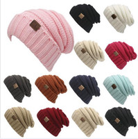 Wholesale CC skull caps beanies men women knitted warm beanie hats fashion christmas autumn winter hats colors DHL Fedex shipping