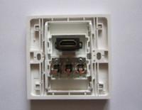 Wholesale Multimedia HDMI AV Lotus Panel HDMI1 Version Socket Panels Audio Video Wall Plug For Home Office Installation