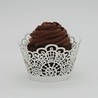 Wholesale Fashion Heaven New Lace Laser Cut Cupcake Wrapper Liner Baking Cup Muffin jul